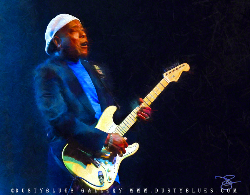Buddy Guy in the spotlight at the Blues Music Awards Showcase.