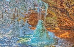 Ash Cave Crystal Falls print