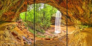 Ash Cave Triptych print