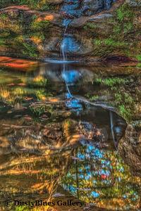 Blue Upper Falls print