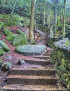 Gorge Stairs print