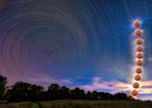 Star Trails Moon Rise print
