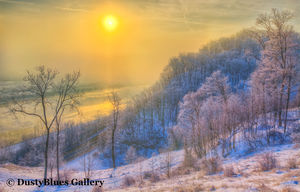 Ohio River Cold Dawn print