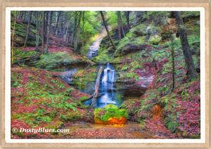 Shining Moss Falls print