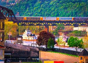 Tugs and Trains print