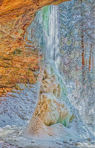 Icy Ash Cave print