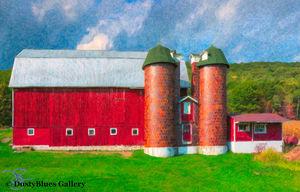 Wellsboro Barn print
