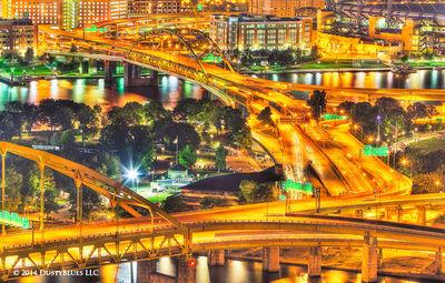 DustyBlues, Pittsburgh, Bridge, Geometry