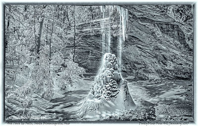 Water Falls, Hocking Hills, Old Man's Cave, Icy Falls, Pittsburgh Photographer, Pittsburgh Photography, Pittsburgh Fine Art Photography, Blues Photography, Fine Art Photography, Black and White Photog