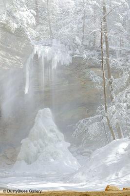 Crystal Falls, Hocking Hills, Ash Cave, Winter, DustyBlues, Fine Art, Magic,