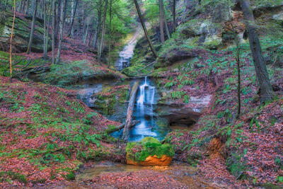 Art gallery in hocking hills, crystal falls hocking hills, hocking hills photo prints, logan ohio gallery, Hocking Hills Photography, Fragile Fern Falls, Blackhand Sandstone Falls