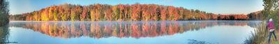Fall Panorama Lake Logan