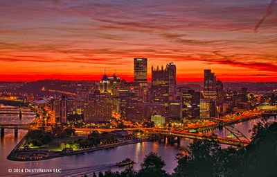 DustyBlues, Pittsburgh, Tug, River, Red Gold