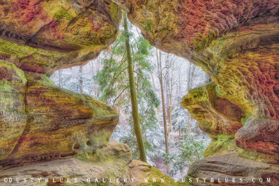 Art gallery in hocking hills, crystal falls hocking hills, hocking hills photo prints, logan ohio gallery, Hocking Hills Photography, Contemplative Photography, Rock House, Rock House Window, Rock Hou