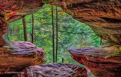 Art gallery in hocking hills, crystal falls hocking hills, hocking hills photo prints, logan ohio gallery, Hocking Hills Photography, Contemplative, Rock House, Rock House Window, Rock House Portal,