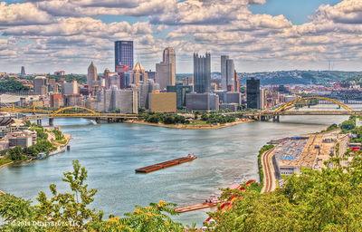 DustyBlues, Pittsburgh, Tug Boat, Barges,