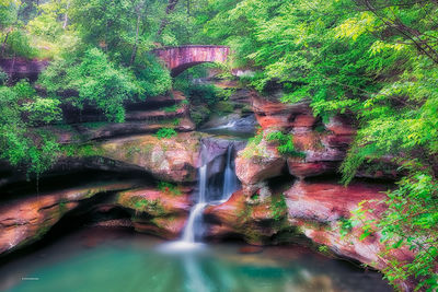 Hocking Hills Photography, Grandma Gatewood, Upper-Falls, DustyBlues Photography, Old Mans Cave, Logan, Ohio