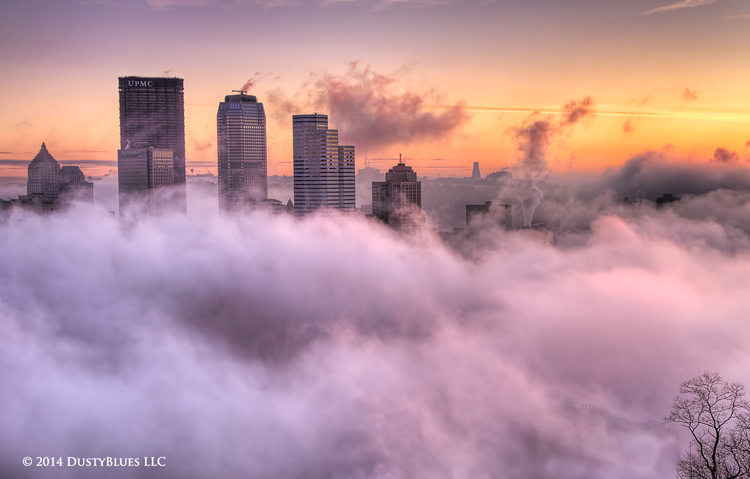 DustyBlues, Pittsburgh, Fog, mists, Sky