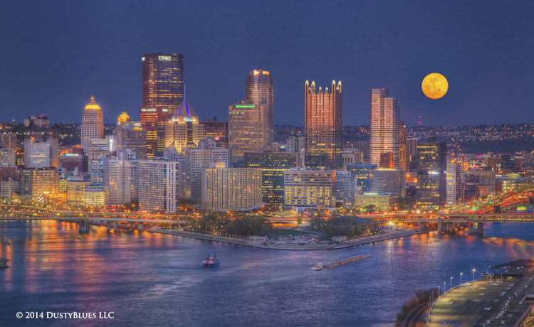 DustyBlues, Pittsburgh, Super Moon, Full Moon