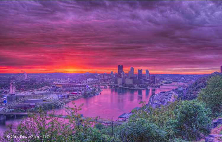 DustyBlues, Pittsburgh, Magenta, Dawn