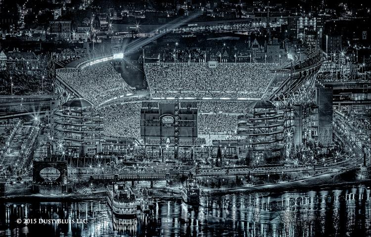 Steelers, Heinz Field, Playoffs, Football, Pittsburgh Photographer, Pittsburgh Photography, Pittsburgh Fine Art Photography, Blues Photography, Fine Art Photography, Black and White Photography