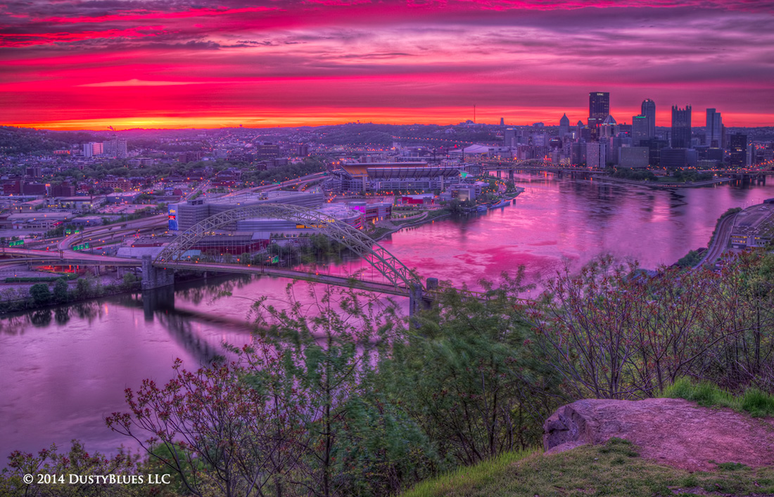 DustyBlues, Pittsburgh, Awakeniing, Magenta , photo