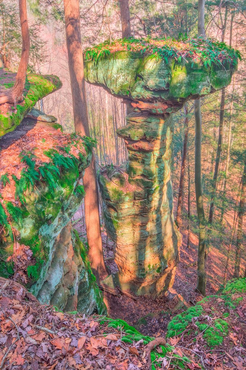 Art gallery in hocking hills, crystal falls hocking hills, hocking hills photo prints, logan ohio gallery, Hocking Hills Photography, Contemplative Photography, Tabletop Rock, Balanced Rock, Buckeye T, photo
