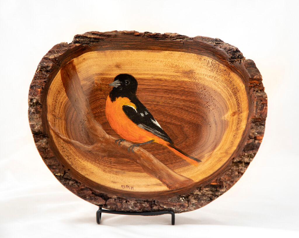The Hizer Collection - Local Hocking Artists - Wooden Bird Bowls