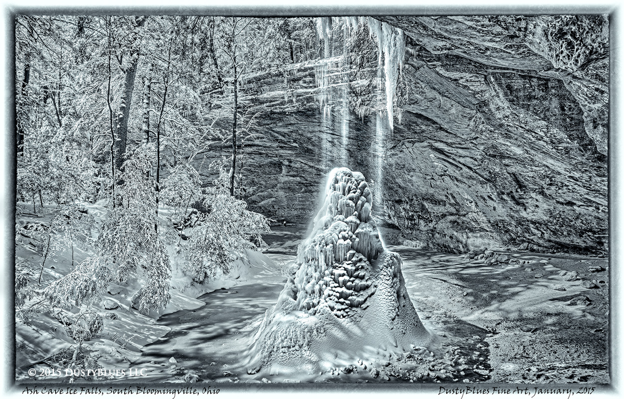 Water Falls, Hocking Hills, Old Man's Cave, Icy Falls, Pittsburgh Photographer, Pittsburgh Photography, Pittsburgh Fine Art Photography, Blues Photography, Fine Art Photography, Black and White Photog, photo