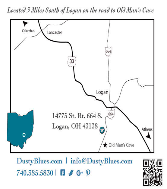 Map to DustyBlues Gallery Address