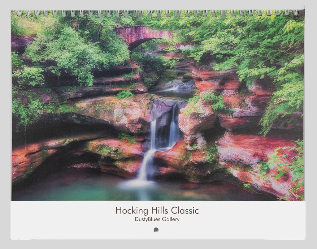 The 2021 DustyBlues Calendar with exceptional Hocking Hills Photography applicable to each month. Art work from each month are...