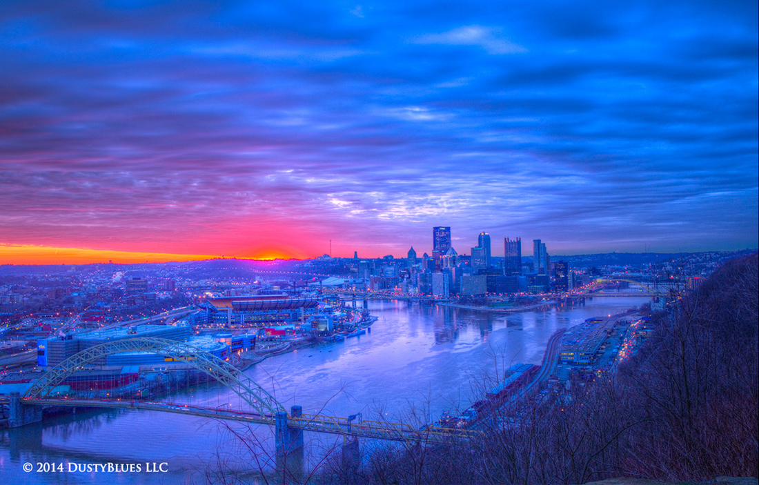 DustyBlues, Pittsburgh, Dawn, Glow Daybreak , photo