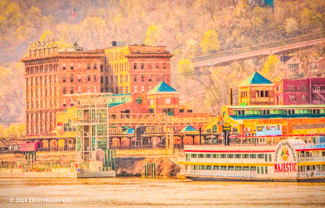 DustyBlues, Gateway Clipper, Station Square, First Light, photo