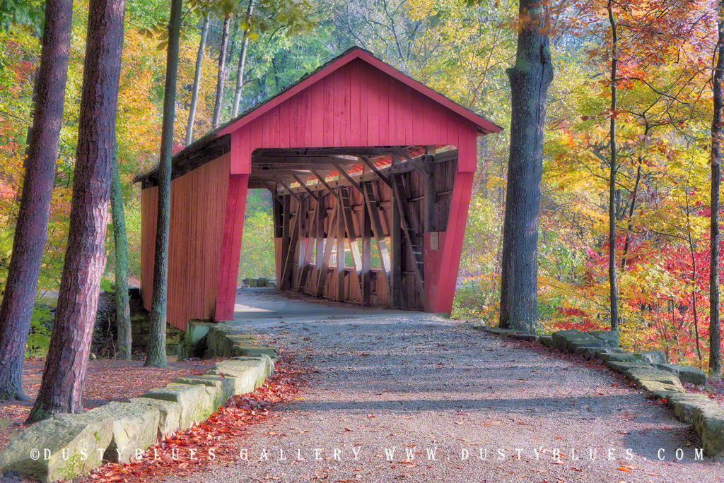 Art gallery in hocking hills, crystal falls hocking hills, hocking hills photo prints, logan ohio gallery, Hocking Hills Photography, Contemplative, Alley Park, Alley Park Covered Bridge, Alley Park G, photo