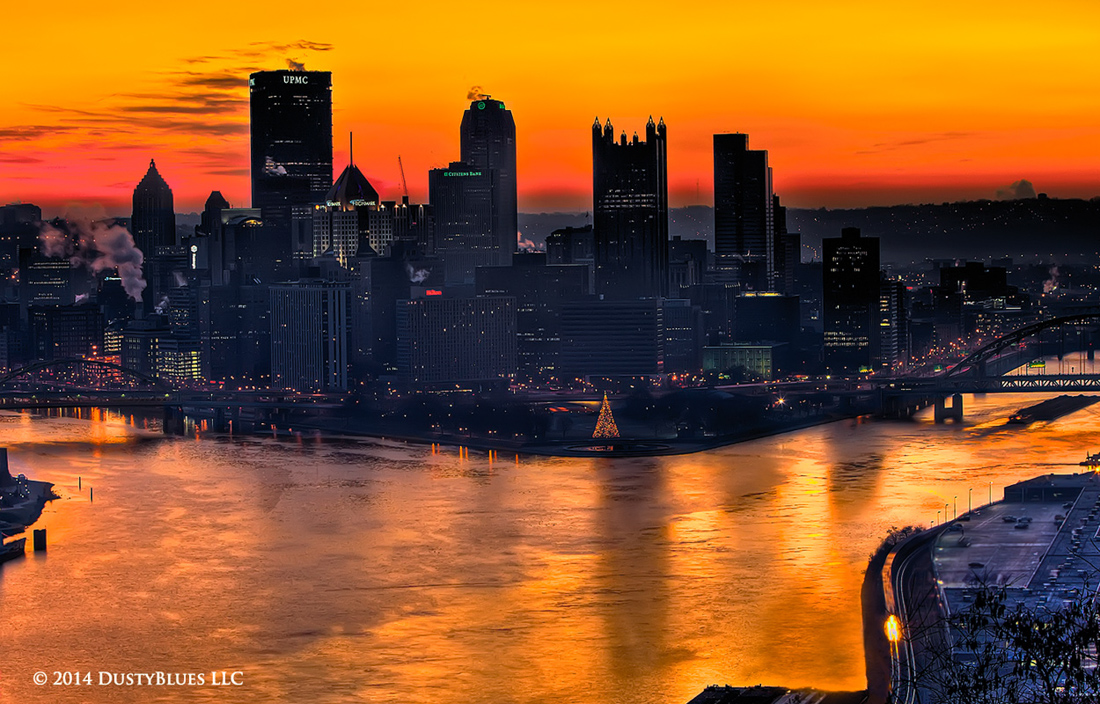DustyBlues, Pittsburgh, Golden, Twilight , photo