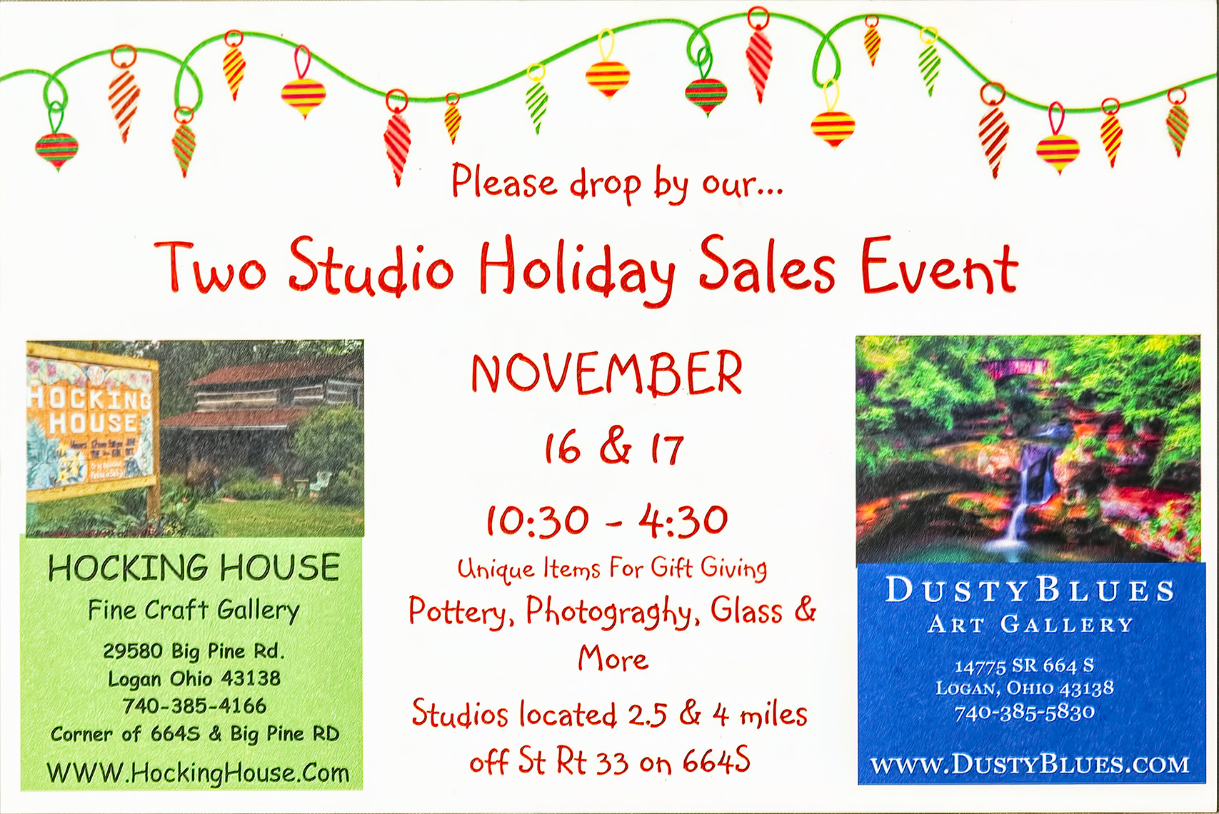 Two Studio Sales Event