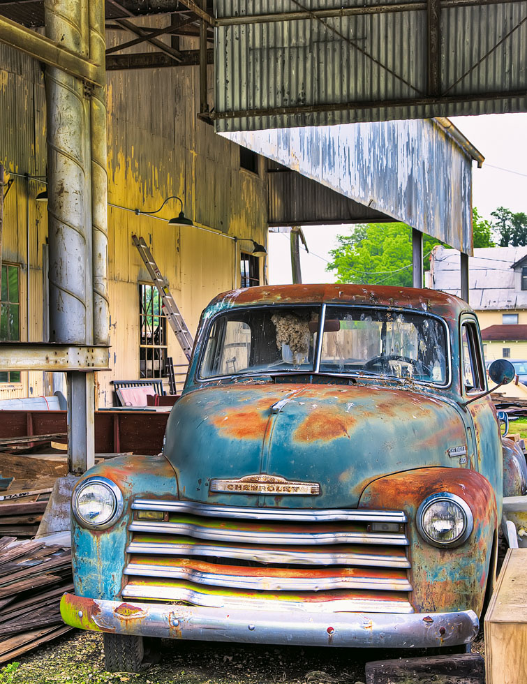 A Classic Old Chevy Truck ages gracefully.