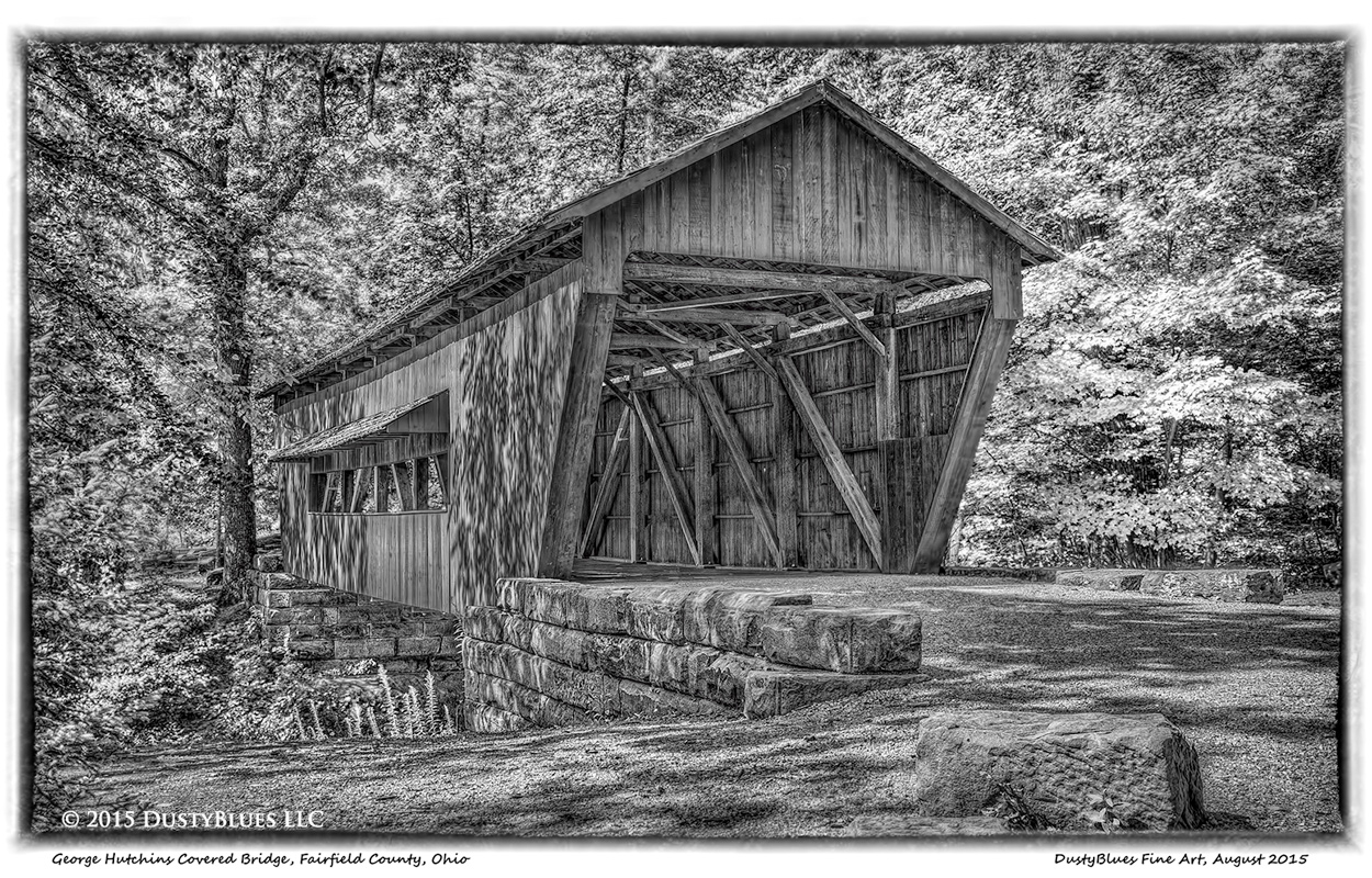 Covered Bridge, Fairfield County Ohio, Nostalgia, Sentimental, Pittsburgh Photographer, Pittsburgh Photography, Pittsburgh Fine Art Photography, Blues Photography, Fine Art Photography, Black and Whit, photo