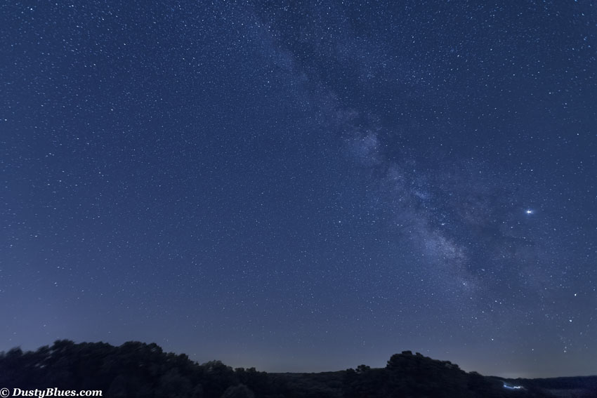 A summer night in the Hocking Hills. A wide angle view of the Souther skies captured in 70 photographs that are then merged to...