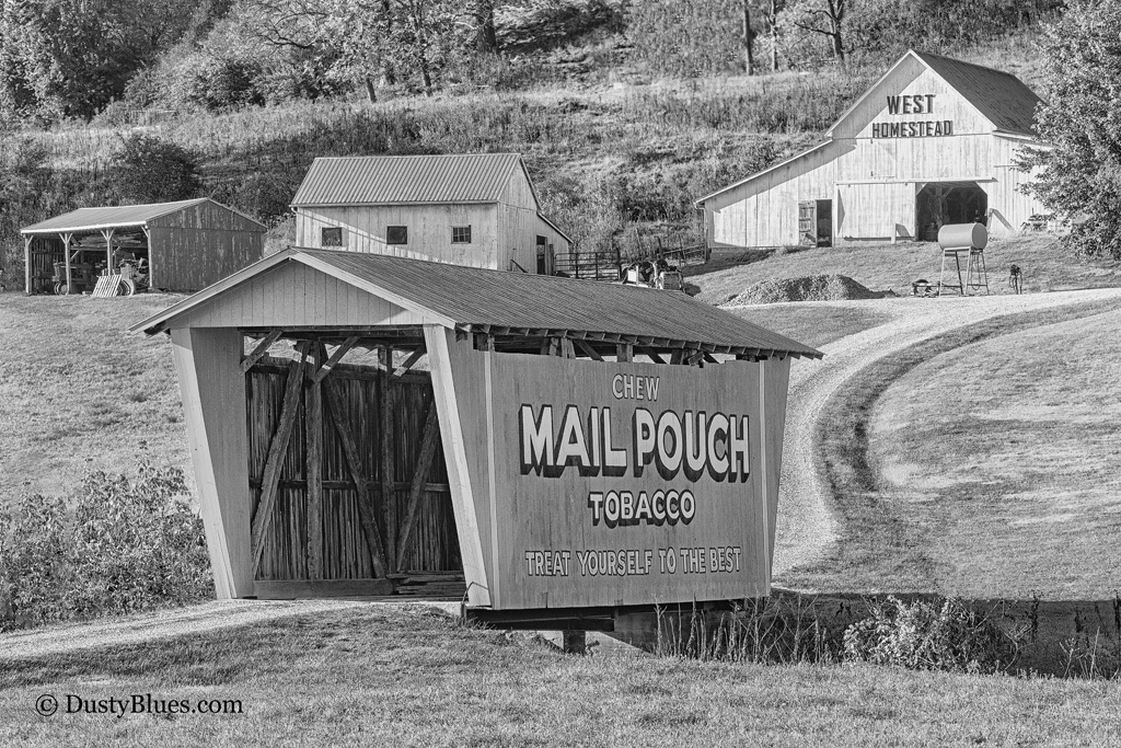 Horses and Endorsements. A well restored covered bridge echoes the horse and buggy daysof yesteryear.