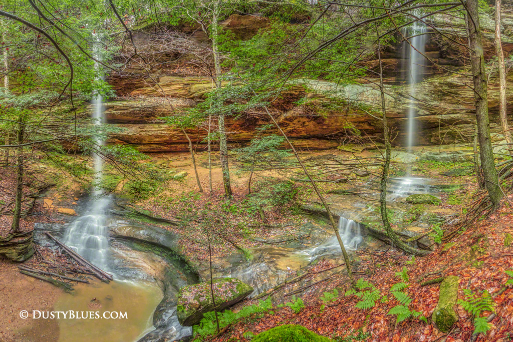 Art gallery in hocking hills, crystal falls hocking hills, hocking hills photo prints, logan ohio gallery, Hocking Hills Photography, Double Water Falls, Proposal Falls Hocking Hills, Dual water falls, photo