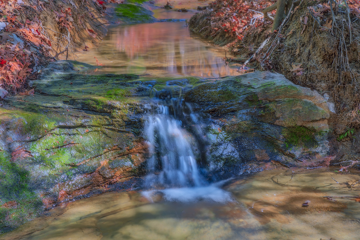 Creek Dreams: Red Rocks Draw - There are literally thousands of contemplative areas such as this in the Hocking Hills. This particular...