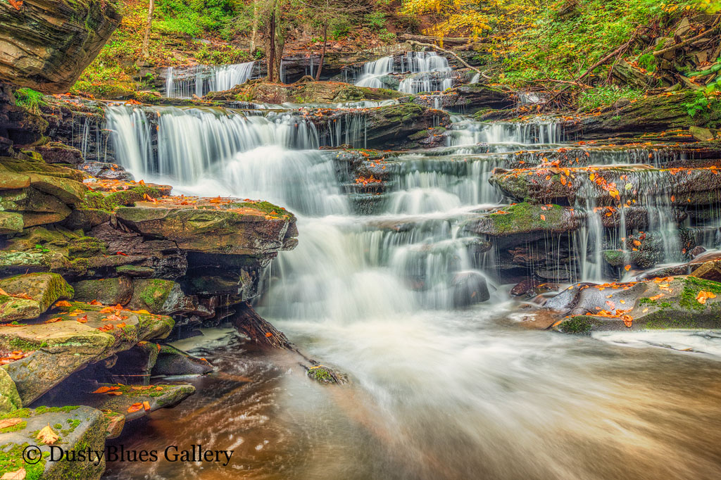 Ricketts Glen Park has 22 named waterfalls in a Y shaped Gorge . The hiking trail is a strenuous 2.5 miles but an amazing journey...