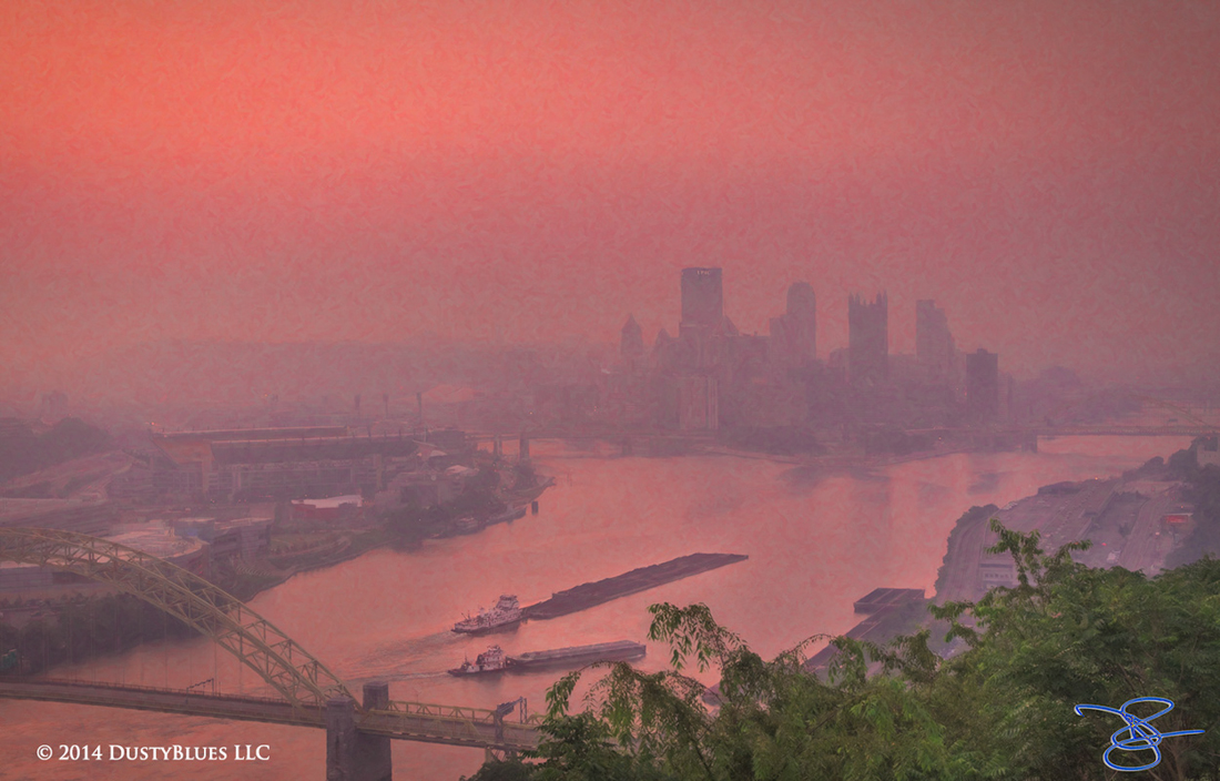 DustyBlues, Pittsburgh, Shrouded, Head Waters, Ohio River , photo