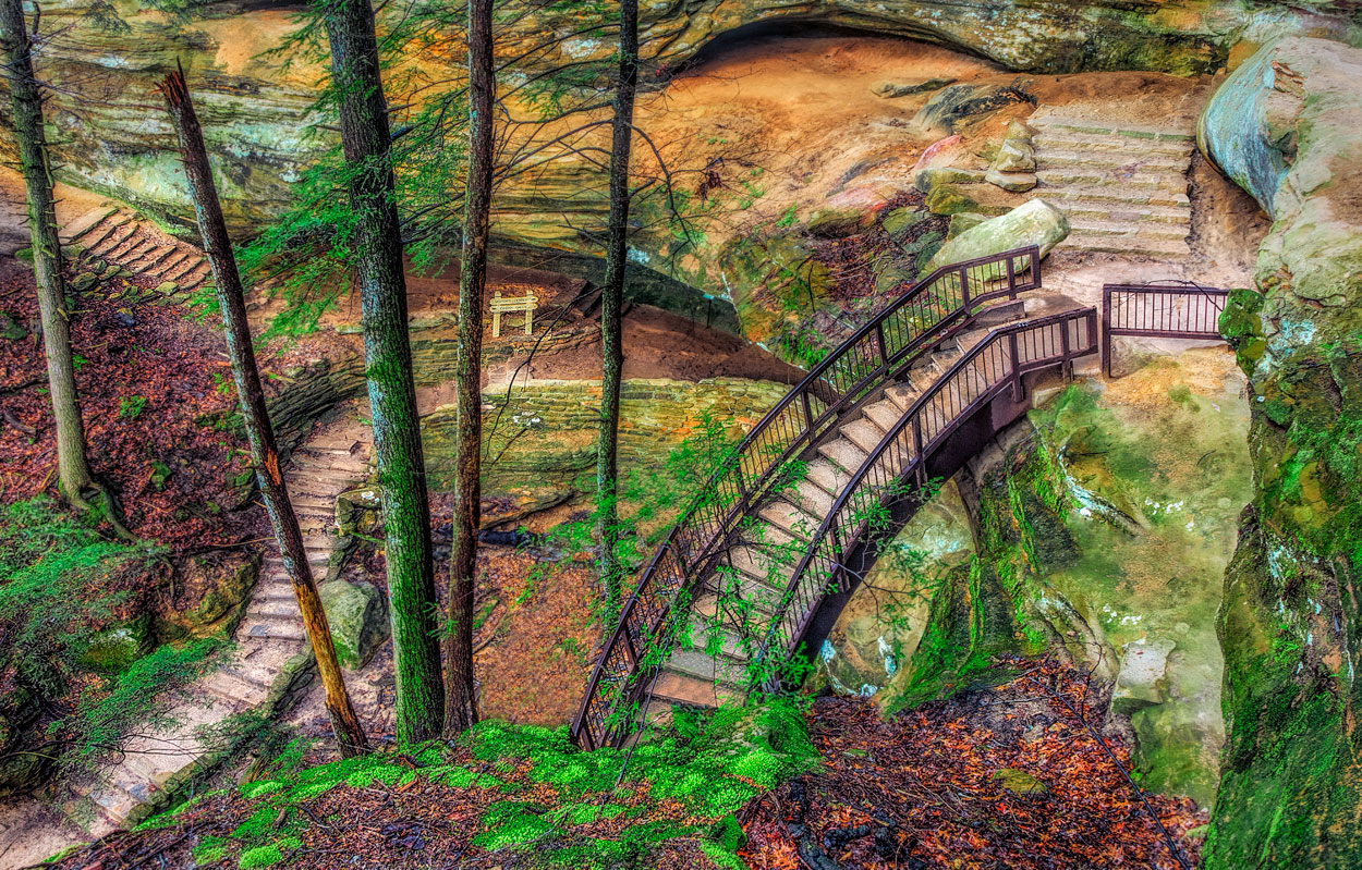 Art gallery in hocking hills, crystal falls hocking hills, hocking hills photo prints, logan ohio gallery, Hocking Hills Photography, Stairway to Heaven, Long Tunnel Stairs, Stepping out, Contemplativ, photo