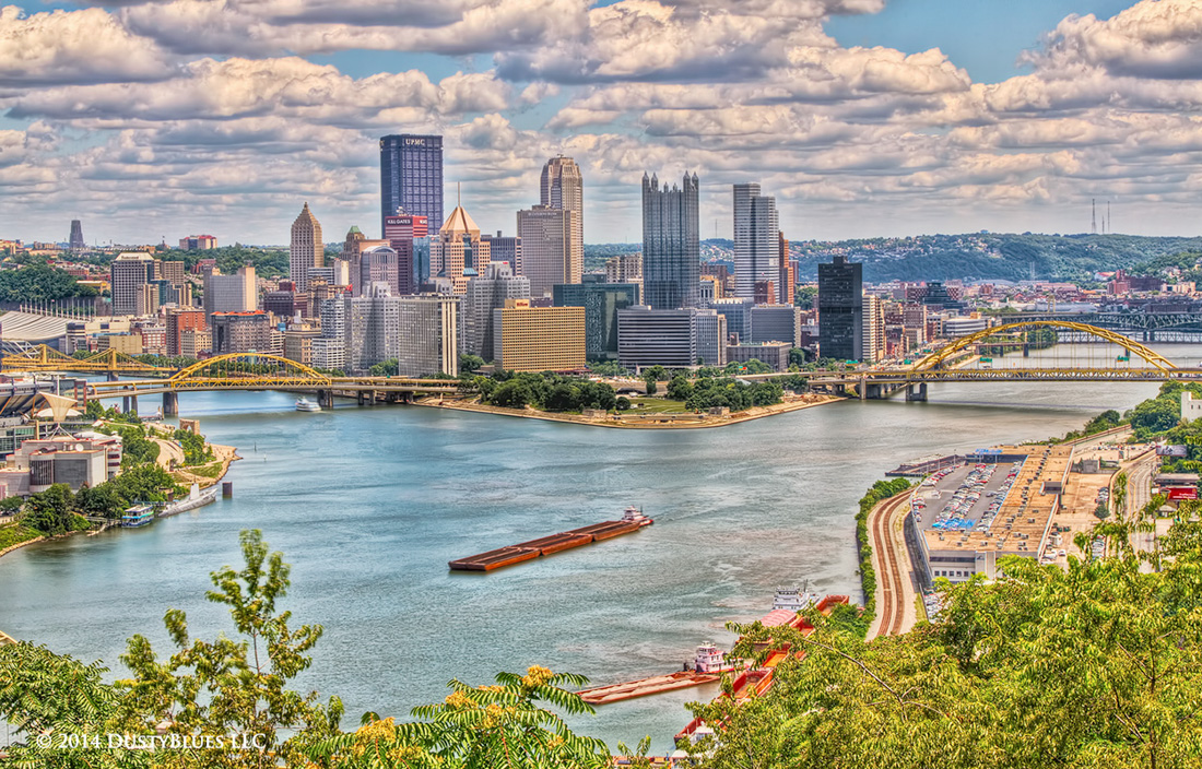 DustyBlues, Pittsburgh, Tug Boat, Barges, , photo
